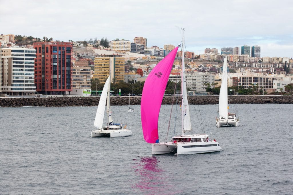 Start der ARC+ in Las Palmas, Multihulls
